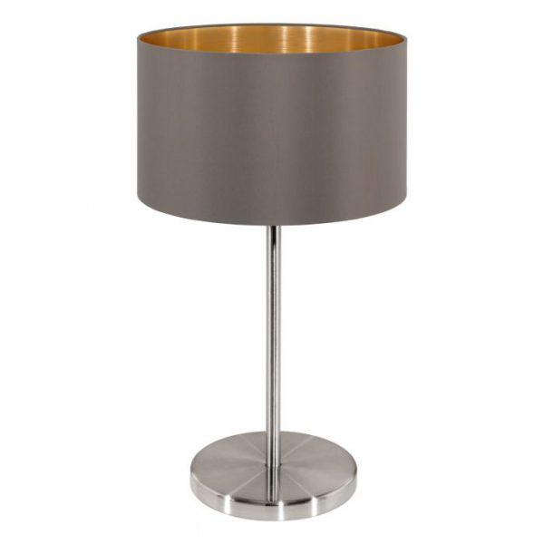 Maserlo Tafellampen uit de lampen collectie van Eglo, schitterende lamp vervaardigd van staal, nikkel-mat van kleur en passend bij vele interieurstijlen. De Tafellampen is voorzien van een E27 fitting. Tafellampen Maserlo wordt geleverd exclusief lichtbron(nen).