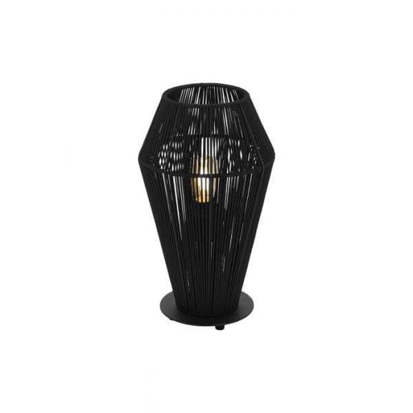 Palmones Tafellampen uit de lampen collectie van Eglo, schitterende lamp vervaardigd van staal, zwart van kleur en passend bij vele interieurstijlen. De Tafellampen is voorzien van een E27 fitting. Tafellampen Palmones wordt geleverd exclusief lichtbron(nen).