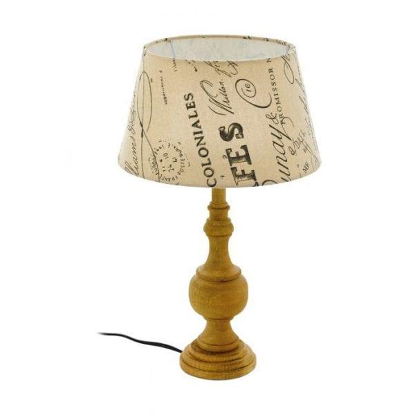 Thornhill 1 Tafellampen uit de lampen collectie van Eglo, schitterende lamp vervaardigd van Hout, bruin van kleur en passend bij vele interieurstijlen. De Tafellampen is voorzien van een E14 fitting. Tafellampen Thornhill 1 wordt geleverd exclusief lichtbron(nen).