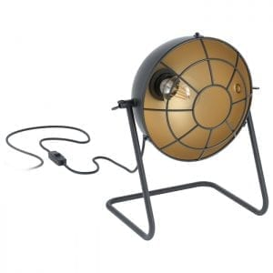 Treburley Tafellampen uit de lampen collectie van Eglo, schitterende lamp vervaardigd van staal, zwart, goud van kleur en passend bij vele interieurstijlen. De Tafellampen is voorzien van een E27 fitting. Tafellampen Treburley wordt geleverd exclusief lichtbron(nen).