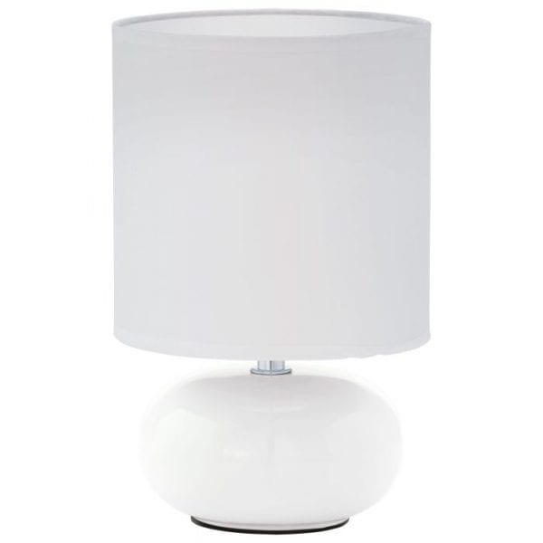 Trondio Tafellampen uit de lampen collectie van Eglo, schitterende lamp vervaardigd van Ceramiek, wit van kleur en passend bij vele interieurstijlen. De Tafellampen is voorzien van een E14 fitting. Tafellampen Trondio wordt geleverd exclusief lichtbron(nen).