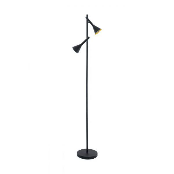Cortaderas Staande lampen uit de lampen collectie van Eglo, schitterende lamp vervaardigd van staal, zwart, goud van kleur en passend bij vele interieurstijlen. De Staande lampen is voorzien van een GU10-LED fitting. Staande lampen Cortaderas wordt geleverd inclusief lichtbron(nen).
