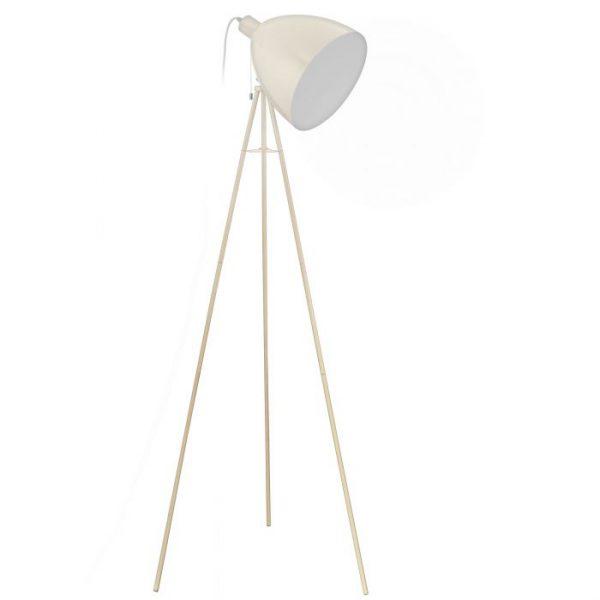Dundee Staande lampen uit de lampen collectie van Eglo, schitterende lamp vervaardigd van staal, zandkleuren van kleur en passend bij vele interieurstijlen. De Staande lampen is voorzien van een E27 fitting. Staande lampen Dundee wordt geleverd exclusief lichtbron(nen).