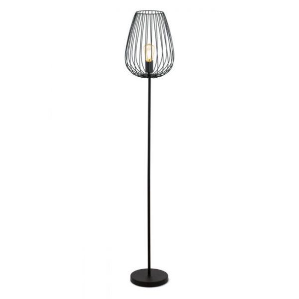 Newtown Staande lampen uit de lampen collectie van Eglo, schitterende lamp vervaardigd van staal, zwart van kleur en passend bij vele interieurstijlen. De Staande lampen is voorzien van een E27 fitting. Staande lampen Newtown wordt geleverd exclusief lichtbron(nen).