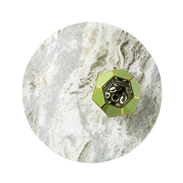 Maros bijzettafel staal - marmer matt black Bijzettafel Maros van staal met marmeren blad Ø40x57(h) Feelings Lowik Meubelen