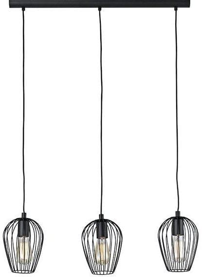 Terrebonne hanglamp 3l zwart
