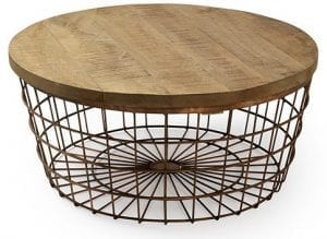 Basket salontafel vintage - koper