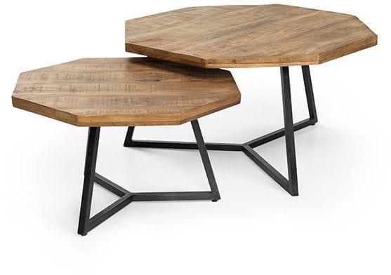 Octagon salontafel - set van 2