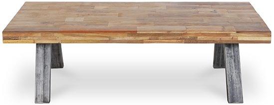 Patch salontafel hout/metaal  Salontafel Patch van massief hout met metalen poten Feelings Lowik Meubelen