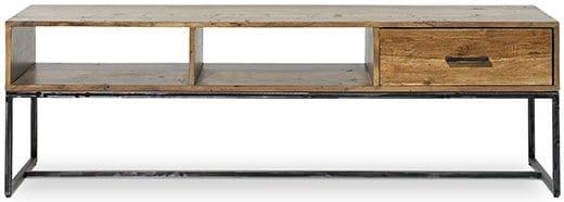 Ibiza tv dressoir 1 lade - 2 niche forrest - antique TV dressoirs Feelings Lowik Wonen & Slapen