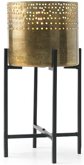 Fez tafellamp Metaal  Tafellamp Fez van metaal 18x18x37(h). Geleverd exclusief lichtbron Feelings Lowik Meubelen