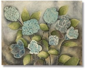 Bloemen mozaiek wanddeco   Wanddecoratie Bloemen mozaiek 100x80 Feelings Lowik Meubelen