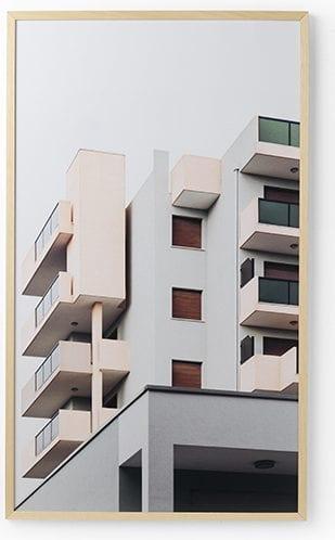 Wanddeco flat forex met blanke lijst   Feelings Lowik Meubelen