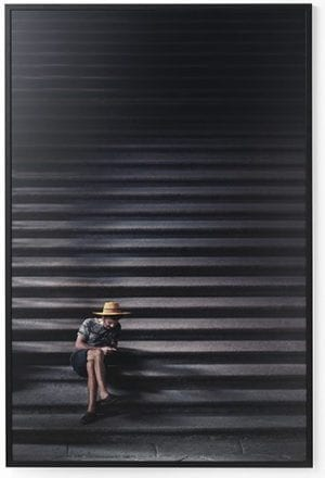 Wanddeco stairway forex met zwarte lijst   Feelings Lowik Meubelen