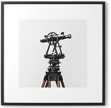 Wanddeco telescoop forex met zwarte lijst   Feelings Lowik Meubelen