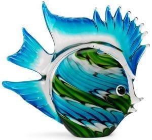 Marlin vis Glas blue  Feelings Lowik Meubelen