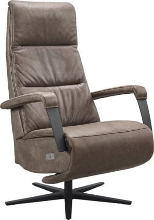 Chanti relaxfauteuil in leder Vintage brown - modern design van INHouse
