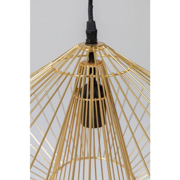 Kare Design Modo Wire Round Gold hanglamp 52532 - Lowik Meubelen