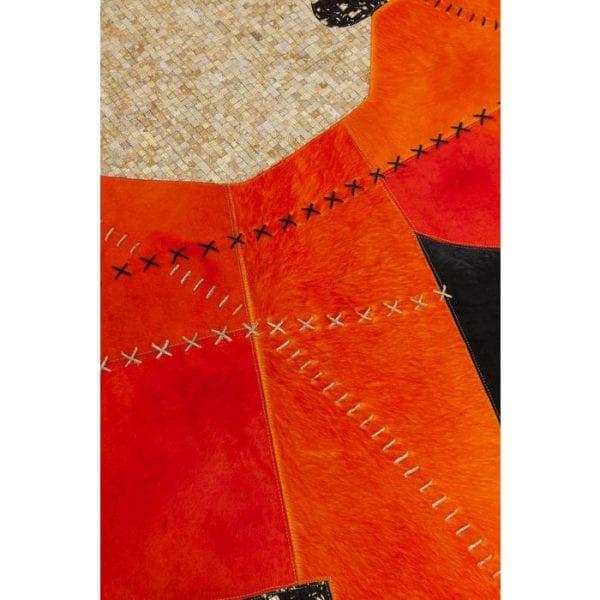 Karpet Lava 240x170cm 52061 Bovenzijde: 100% Echt bont Koeienhuid, Achterkant: 100% Wol, Handgemaakt, Stomerij Kare Design