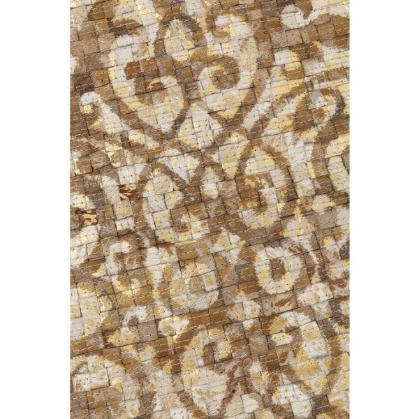 Karpet Ornaments Beige 240x170cm 52060 Bovenzijde: 100% Echt bont Koeienhuid, Achterkant: 100% Wol, Handgemaakt, Stomerij Kare Design