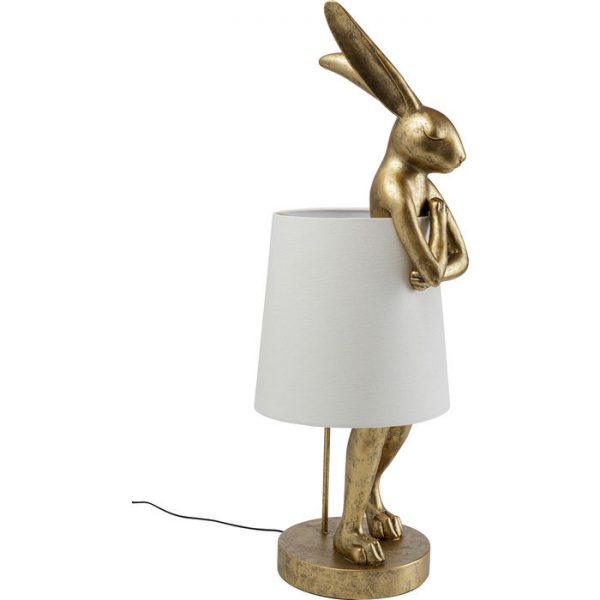 Kare Design Animal Rabbit Gold 88cm tafellamp 52523 - Lowik Meubelen