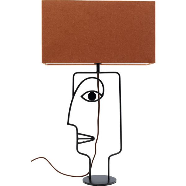 Kare Design Face Wire Orange tafellamp 52451 - Lowik Meubelen