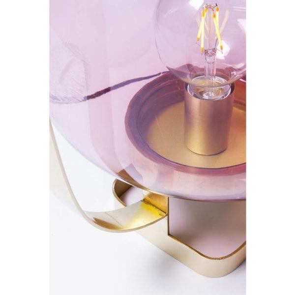 Table Lamp Jupiter Pink Brass 61397  Kare Design