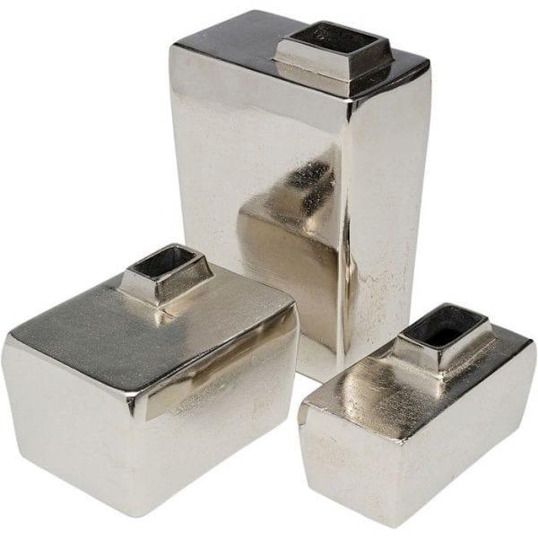 Kare Design Cubo (3/Set) vaas 52027 - Lowik Meubelen