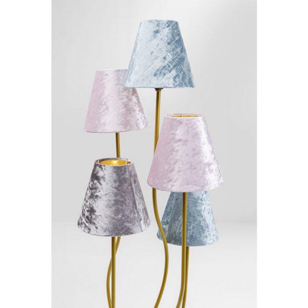Kare Design Flexible Velvet Brass Cinque vloerlamp 52433 - Lowik Meubelen