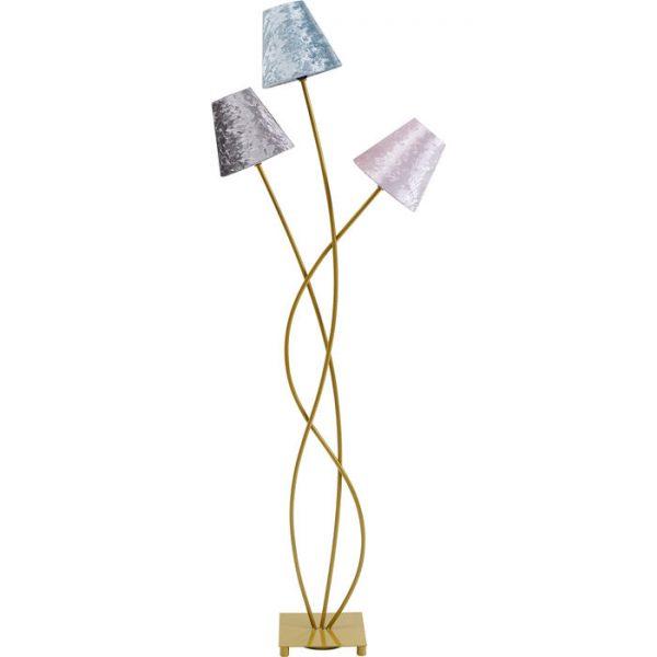 Kare Design Flexible Velvet Brass Tre vloerlamp 52435 - Lowik Meubelen