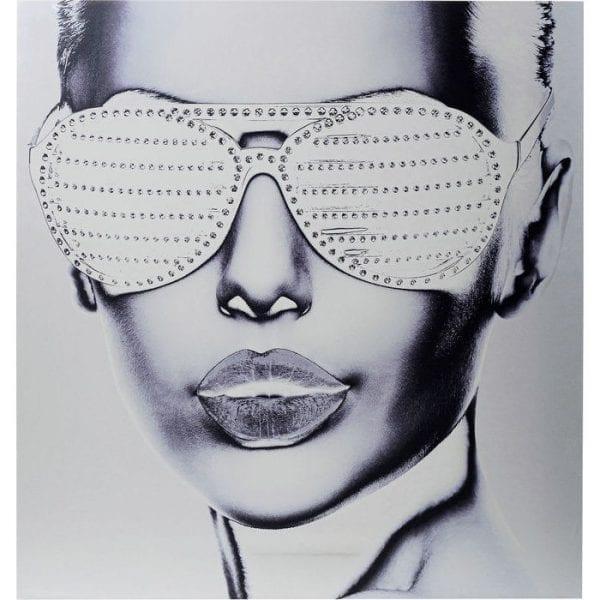 Kare Design Alu Cool Girl 120x120cm wanddecoratie 51520 - Lowik Meubelen