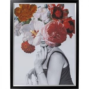 Kare Design Flower Lady 152x117cm wanddecoratie 51535 - Lowik Meubelen