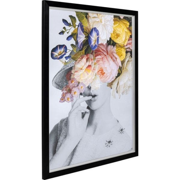 Kare Design Flower Lady Pastel 152x117cm wanddecoratie 51534 - Lowik Meubelen