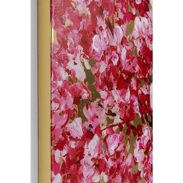 Kare Design Touched Flower Couple Gold Pink 160x120cm wanddecoratie 51740 - Lowik Meubelen