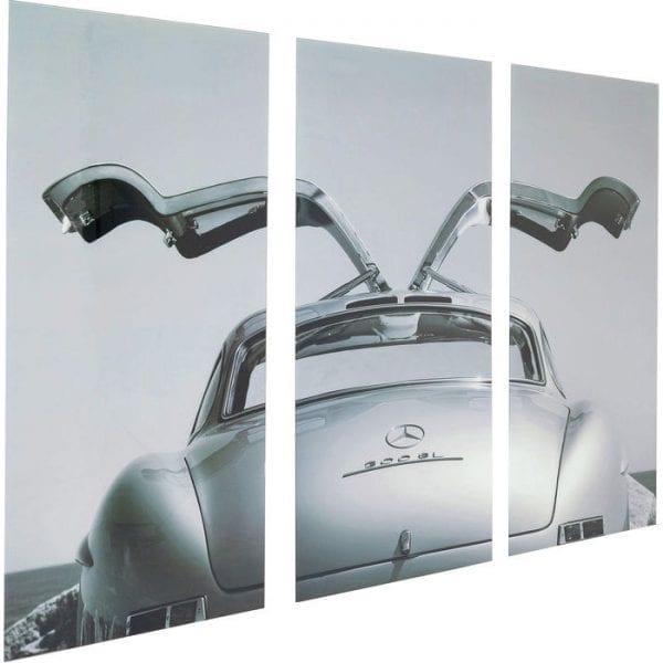 Kare Design Triptychon Oldtimer Back 160x240cm wanddecoratie 51522 - Lowik Meubelen