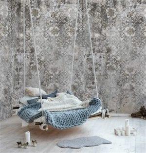 Behang Saffier Vliesbehang, geleverd op 1 rol in 4 delen van 50x300 cm, repeatable. Accessoires Profijt Meubel Lowik Meubelen