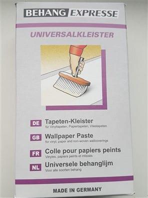 Behanglijm universeel 1 verpakking is voldoende voor 4 standaard rollen behang van 53 cm x 10 meter. Accessoires Profijt Meubel Lowik Meubelen