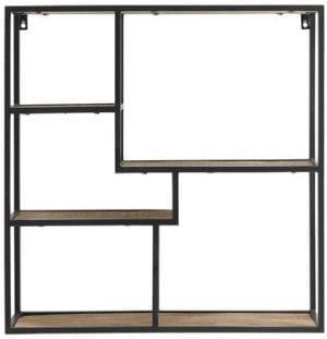 Wandrek Grandby Uitgevoerd met metalen frame en houten legplanken.