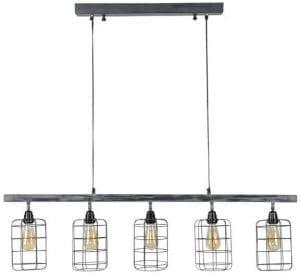 Hanglamp Urbe grijs uit de verlichting Pronto Wonen Lowik Meubelen Uitgevoerd met 5 lampen iron, in de kleur grijs. Geschikt voor maximaal 40 Watt.