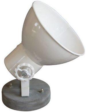 Wand/hanglamp Equi Op=op uit de verlichting Pronto Wonen Lowik Meubelen Uitgevoerd in grijs hout met wit metaal. Geschikt voor maximaal 40 Watt.