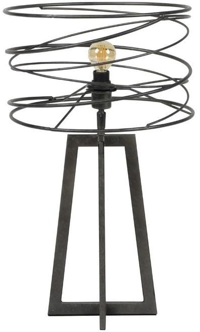 Tafellamp Pontoni charcoal uit de verlichting Pronto Wonen Lowik Meubelen Uitgevoerd met spiraal Ø30 cm, in de kleur charcoal. Geschikt voor maximaal 40 Watt.
