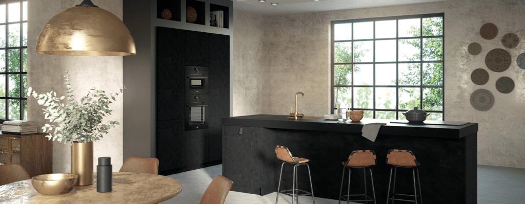 Sanne enstijl moderne zwarte keuken