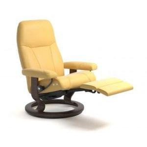 Stressless Consul relaxfauteuil - null Batick mimosa - maatvoering M - Classic onderstel, LegComfort voetenbank - Lowik Wonen & Slapen fauteuil collectie