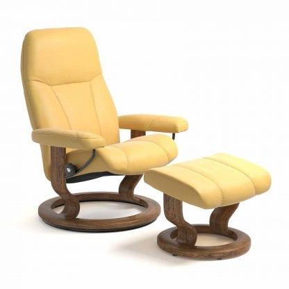 Stressless Consul relaxfauteuil - null Batick mimosa - maatvoering S - Classic onderstel - Lowik Wonen & Slapen fauteuil collectie
