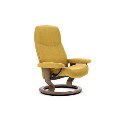 Stressless Consul relaxfauteuil - leder Batick mimosa - maatvoering S - Classic onderstel - Lowik Wonen & Slapen fauteuil collectie