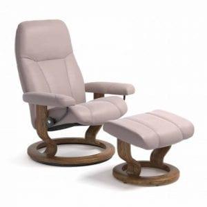 Stressless Consul relaxfauteuil - null Batick smoke rose - maatvoering S - Classic onderstel - Lowik Wonen & Slapen fauteuil collectie