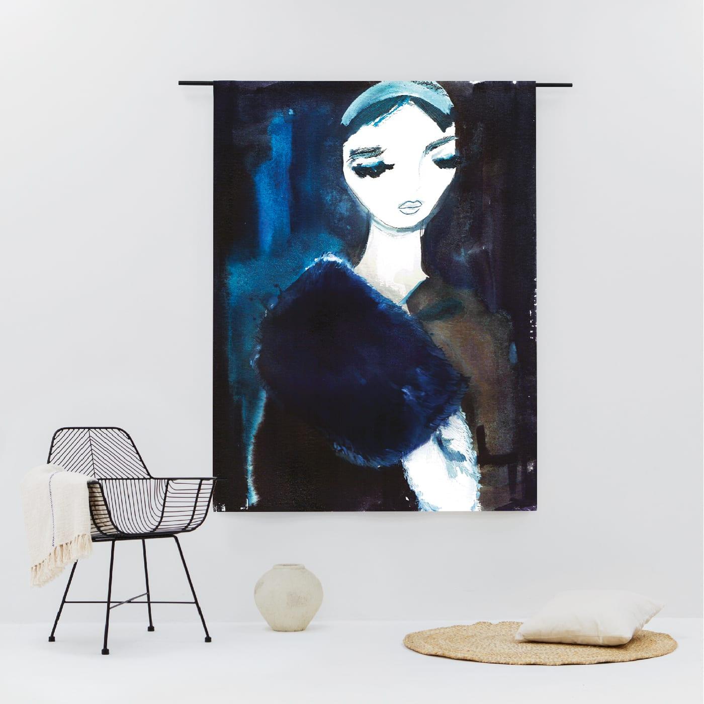 Lady in Blue wandkleed