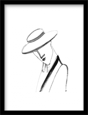 Monsieur Mon Amour wandkleed Urban Cotton, design  -  Fine Art Paper