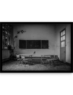 School is out wandkleed Urban Cotton, design  - Alu Dibond Butlerfinish