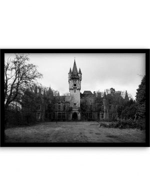 The Castle wandkleed Urban Cotton, design  - Alu Dibond Butlerfinish